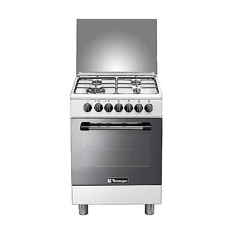 p-664mw tecnogas cucina da 60 cm 4 fuochi a gas forno elettrico bianca