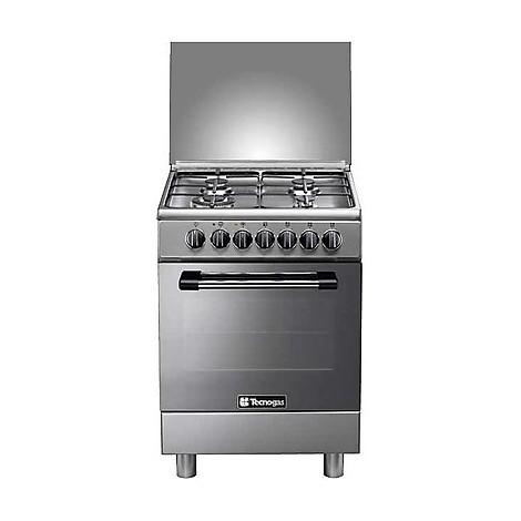 p-664mx tecnogas cucina da 60 cm 4 fuochi a gas forno elettrico inox