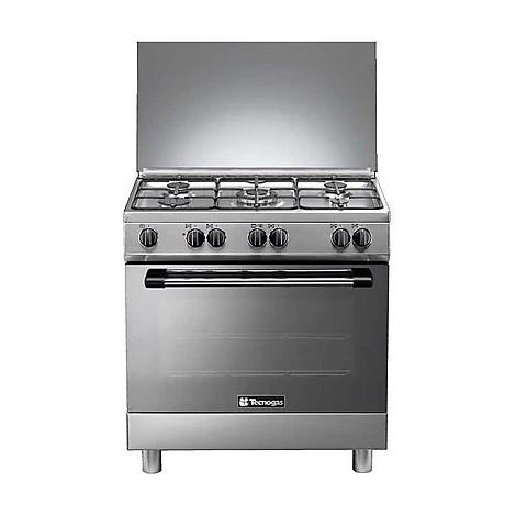 p-855gx tecnogas cucina da 80 cm 5 fuochi a gas forno a gas inox