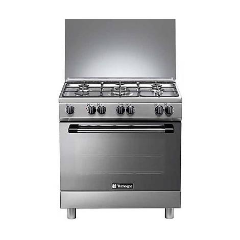 p-855mx tecnogas cucina da 80 cm 5 fuochi a gas forno elettrico inox