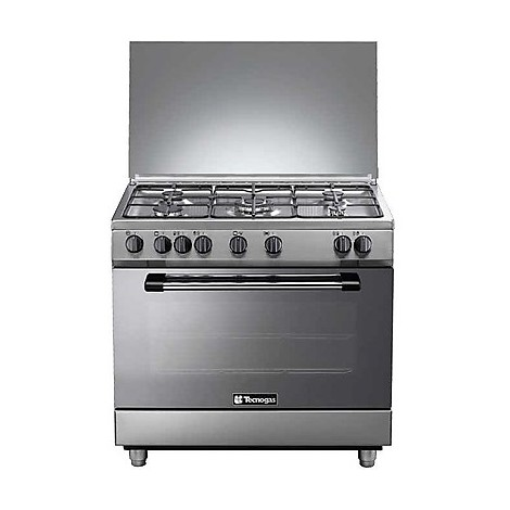 p-965gvx tecnogas cucina da 90 cm 5 fuochi a gas forno a gas inox