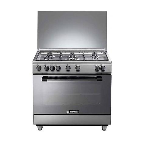 p-965mx tecnogas cucina da 90 cm 5 fuochi a gas forno elettrico inox