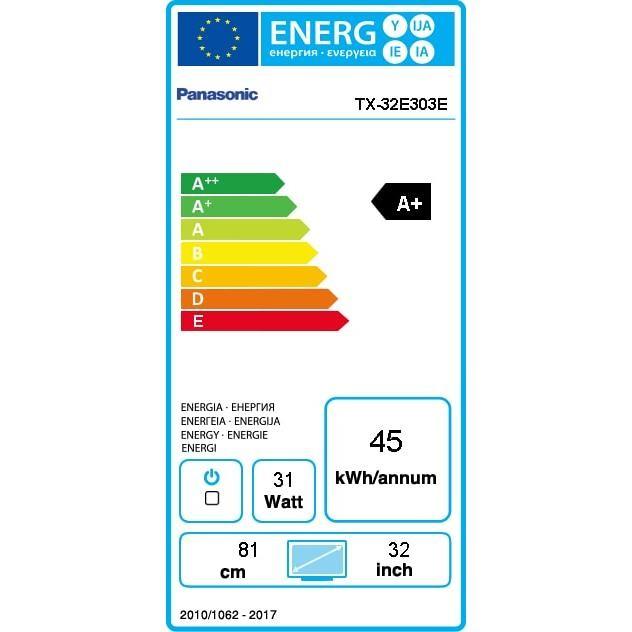 Panasonic TX-32E303E Televisore LED 32 pollici HD classe energetica A+ colore Nero