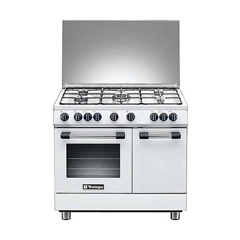 pb-965gvw tecnogas cucina da 90 cm 5 fuochi a gas forno a gas bianca