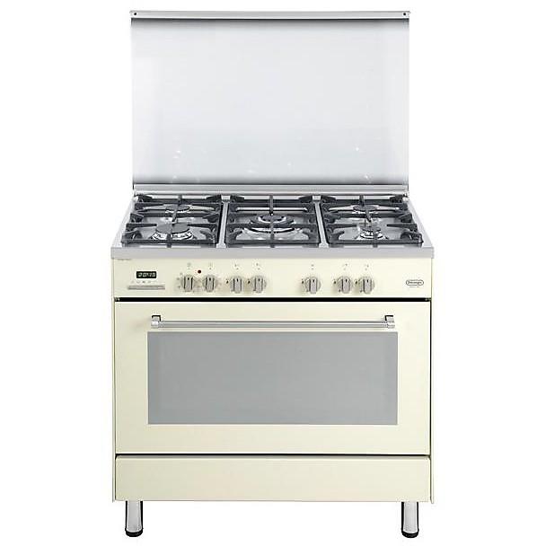 pemb 965 a de longhi cucina 90x60 cm 5 fuochi forno elettrico beige