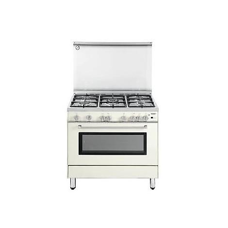pgvb-965ghi delonghi cucina 90x60 5 fuochi a gas colore beige ... - Delonghi Cucine A Gas