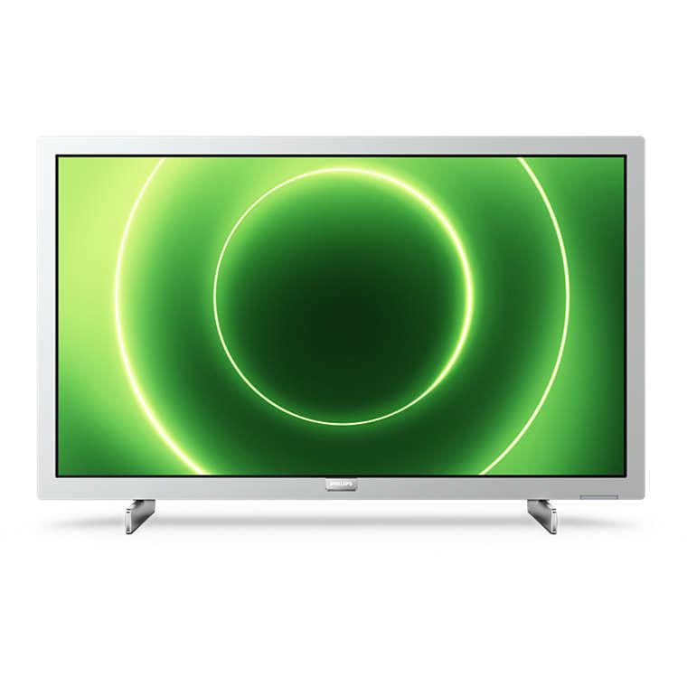 "Philips 24PFS6855/12 Tv LED 24"" Full HD HDR10 Smart Tv Wifi classe A colore argento chiaro"