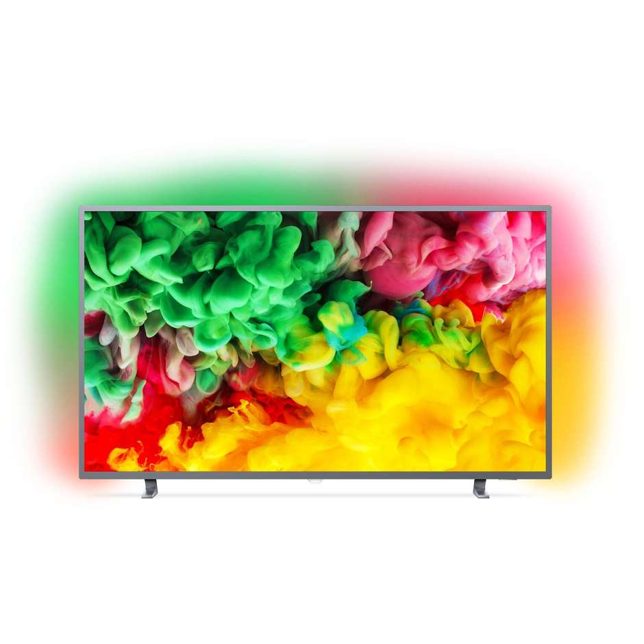 "Philips 43PUS6703/12 Tv LED 43"" 4K Ultra HD Ambilight Smart Tv Wifi classe A colore argento"