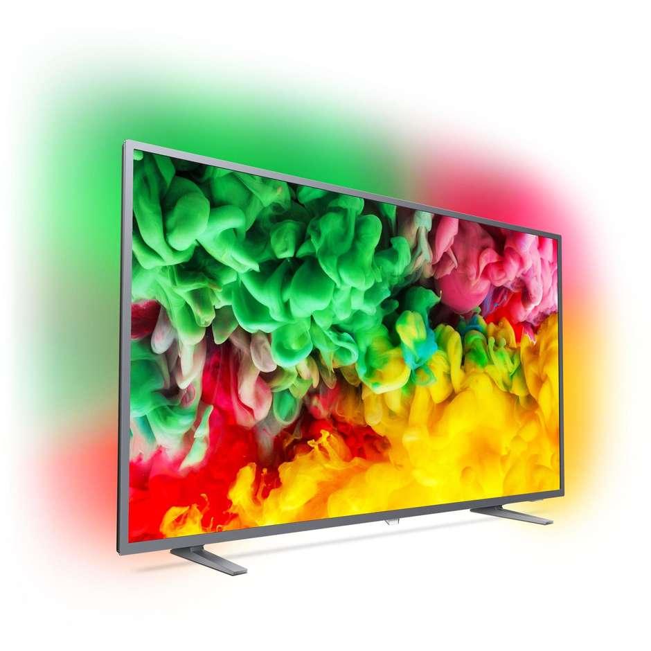 "Philips 50PUS6703/12 Tv LED 50"" 4K Ultra HD Ambilight 3 Smart Tv Wifi classe A colore argento"