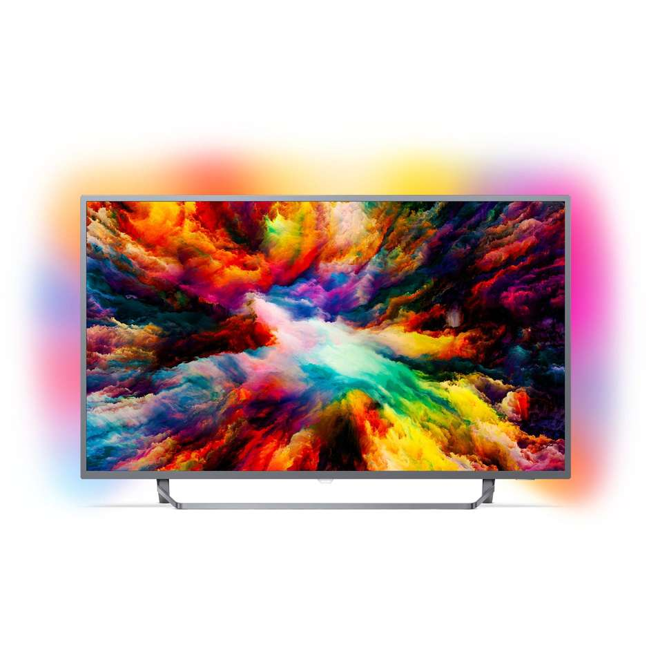 "Philips 65PUS7303/12 Tv LED 65"" 4K Ultra HD Ambilight Smart Tv Android Tv classe A+ colore argento"