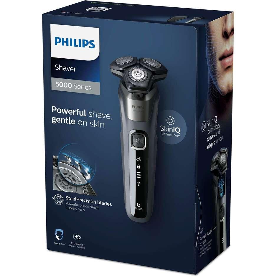 Philips S5587/30 Series 5000 Rasoio elettrico ricaricabile Wet & Dry colore grigio carbone