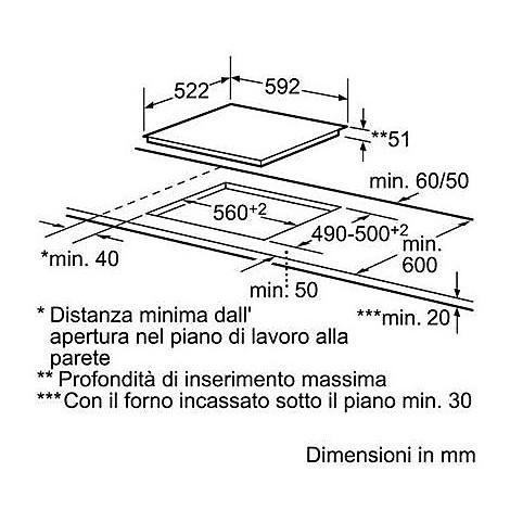 Pia611b68j bosch piano induzione 60 cm piani cottura for Piano cottura induzione bosch pia611b68j istruzioni