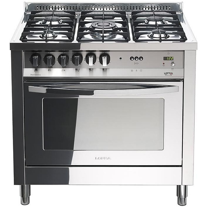 Plg 96mft c lofra cucina 90x60 5 fuochi a gas inox for Cucina 5 fuochi 70x60