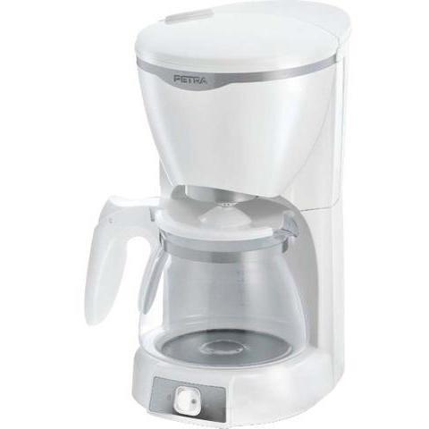 Princess 240012 Macchina del caffè con brocca in vetro 1,25 Litri 1000 W colore Bianco