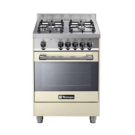 pt-667crs tecnogas cucina da 60 cm 4 fuochi a gas forno elettrico crema