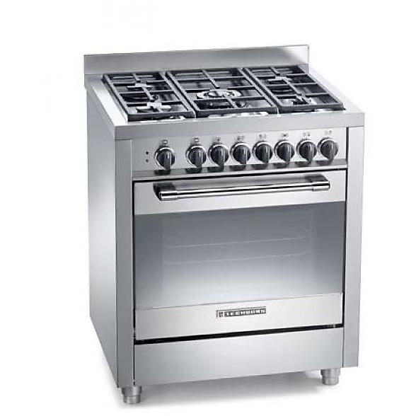 pt-767xs tecnogas cucina da 70 cm 5 fuochi a gas forno elettrico inox