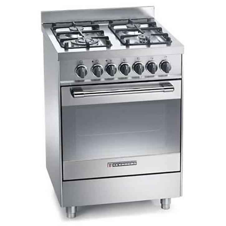 ptv-662xs tecnogas cucina da 60 cm 4 fuochi a gas forno a gas inox
