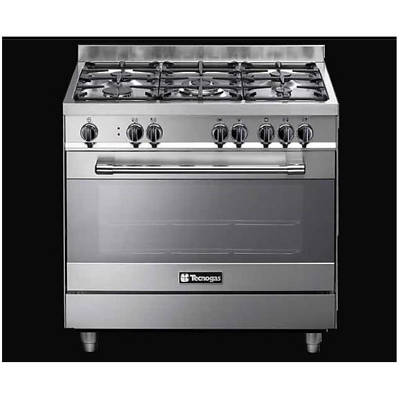 ptv-998xs tecnogas cucina da 90 cm 5 fuochi a gas forno a gas inox ...