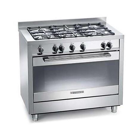 ptv-998xs tecnogas cucina da 90 cm 5 fuochi a gas forno a gas inox