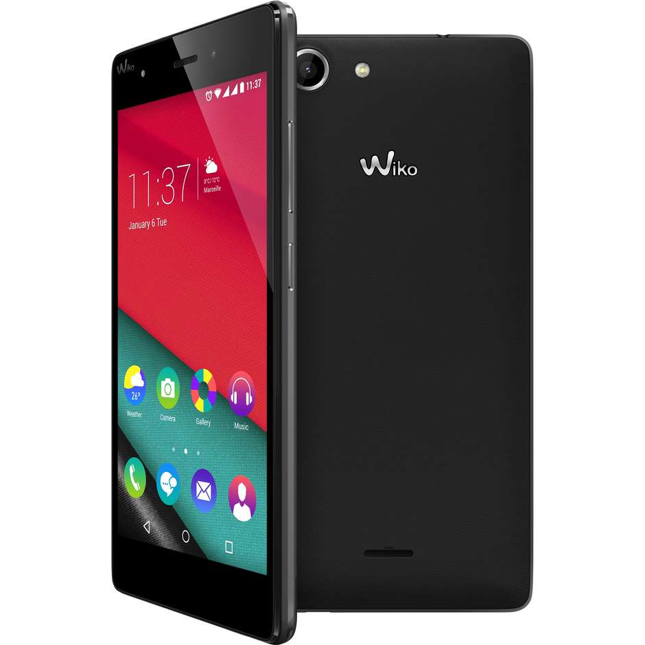 "pulp 4g black wiko smartphone display 5"" android ram2gb 16gb 13mp lte"