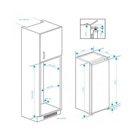 rbi-2301 beko frigorifero monoporta classe a+ 200 litri