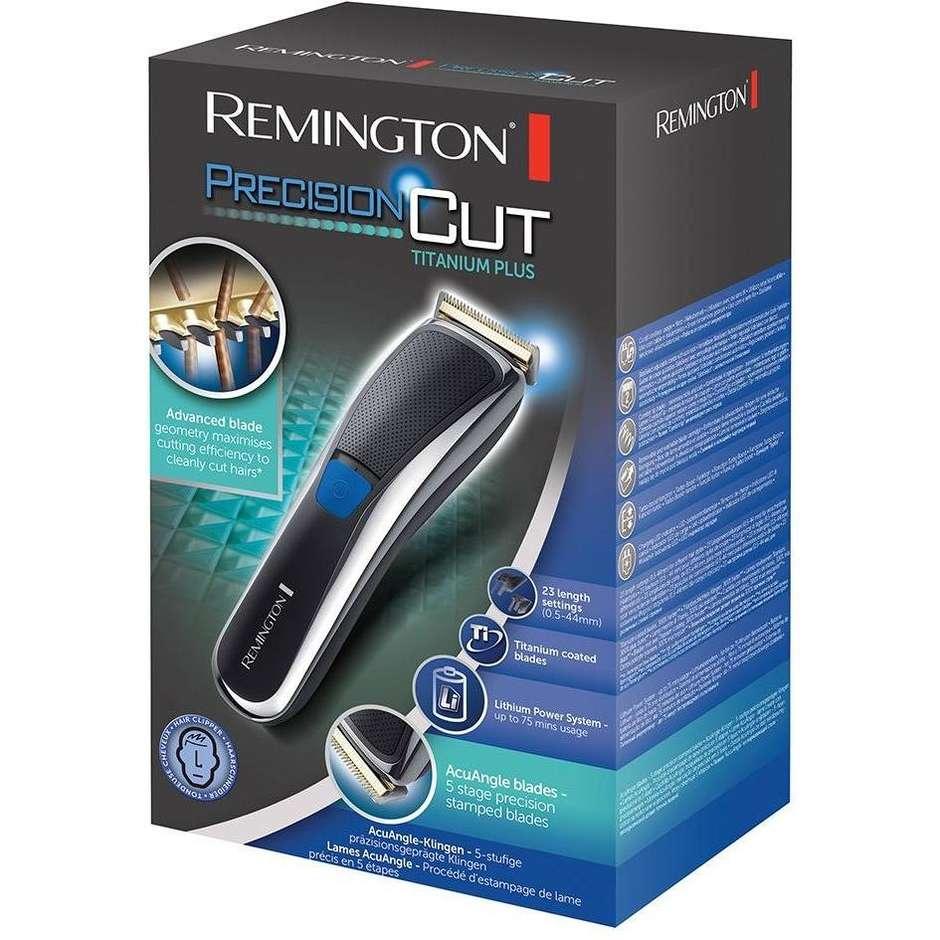 Remington HC5700 PrecisionCut Titanium Plus Tagliacapelli Ricaricabile Colore Nero/ Grigio/ Blu