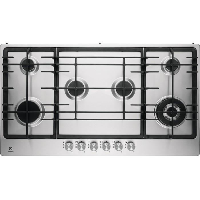 Rex electrolux egg9363nox piano cottura a gas 90 cm 6 fuochi colore inox piani cottura piano - Rex electrolux cucine a gas ...