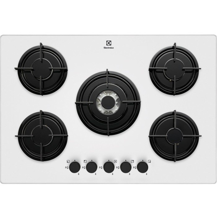 Rex/Electrolux EGT7252NOW piano cottura a gas 75 cm 5 fuochi ...