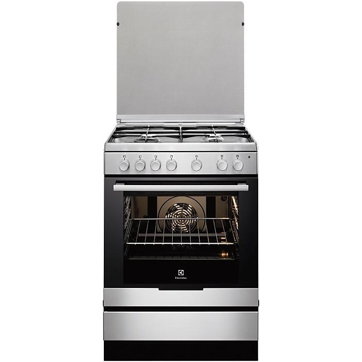 Rex electrolux ekk6130aox cucina 60x60 4 fuochi a gas forno elettrico ventilato 74 litri classe - Rex electrolux cucine a gas ...