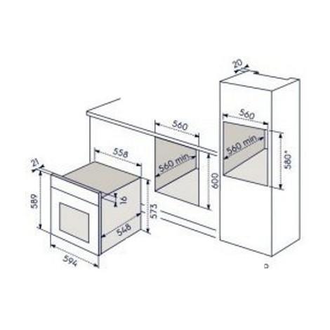 Rex electrolux eob5414aox forno elettrico da incasso 72 litri classe a funzione vapore colore - Rex forno da incasso ...