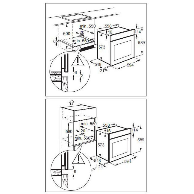 Rex/Electrolux EOB6400ASX forno elettrico da incasso 72 litri classe ...