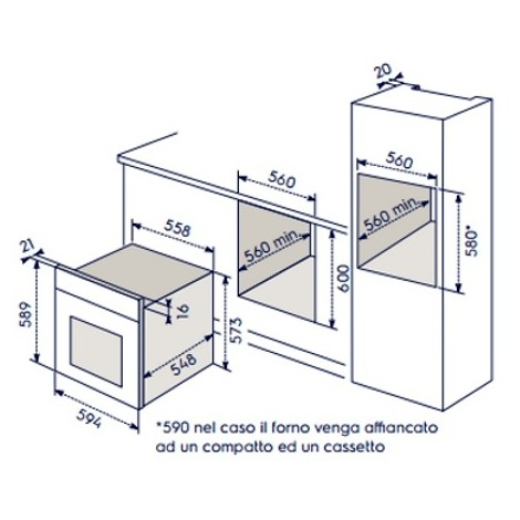 Rex electrolux eoc5400aox forno elettrico da incasso - Forno da incasso rex electrolux ...