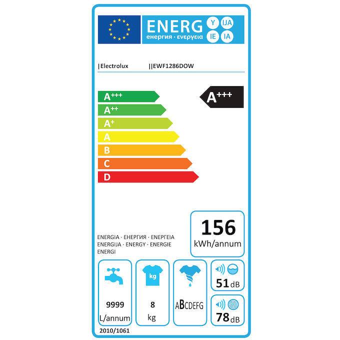 Rex/Electrolux EWF1286DOW lavatrice carica frontale 8 Kg 1200 giri classe A+++ colore bianco