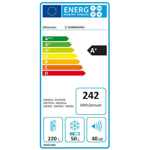 Rex/Electrolux RJ2800AOW2 frigorifero doppia porta 270 litri classe A+ statico colore bianco