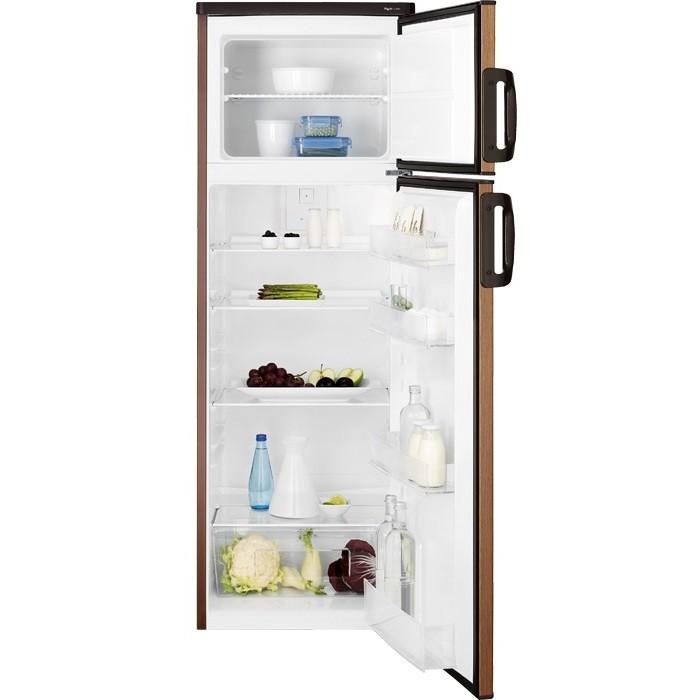 Rex/Electrolux RJ2803AOD2 frigorifero doppia porta 259 litri classe A+ ventilato colore noce
