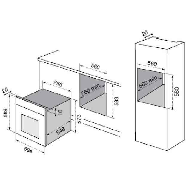 Rex electrolux rob3200aon forno elettrico da incasso 72 litri classe a multifunzione colore - Rex forno da incasso ...