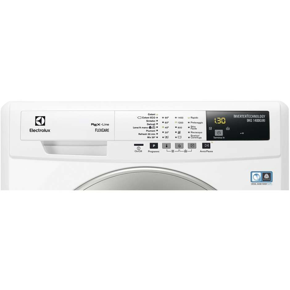 Rex/Electrolux RWF1496BR lavatrice carica frontale 9 Kg 1400 giri classe A+++ colore bianco