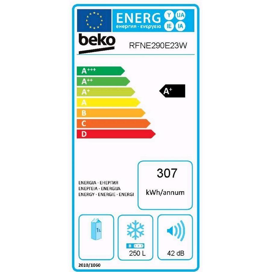 RFNE290E23W Beko congelatore verticale classe A+ 250 litri bianco