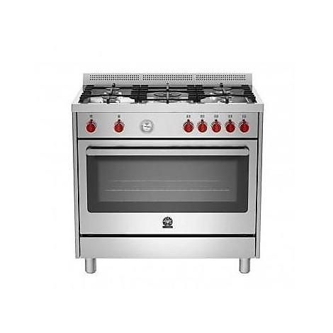 ris-95c 71bx la germania cucina 90x60 5 fuochi a gas con forno a gas inox