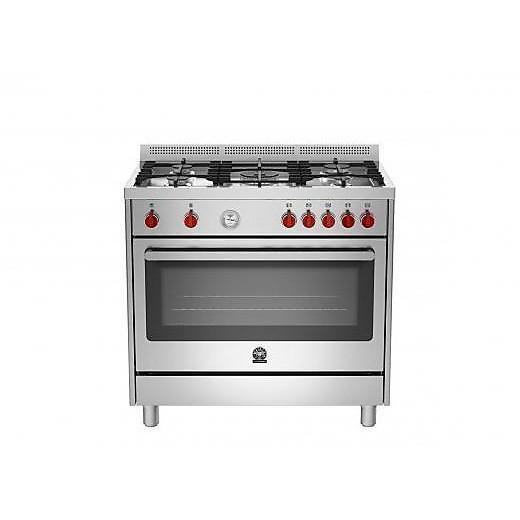 ris-95c61bx la germania cucina 90x60 5 fuochi a gas con forno elettrico inox