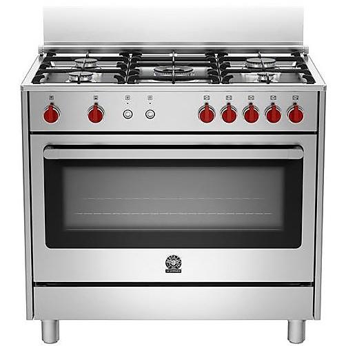 ris-95c61cx la germania cucina 90x60 5 fuochi con forno elettrico inox