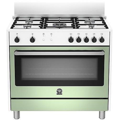 ris-95c71cwv la germania cucina 5 fuochi a gas con forno a gas ventilato 142 litri verde