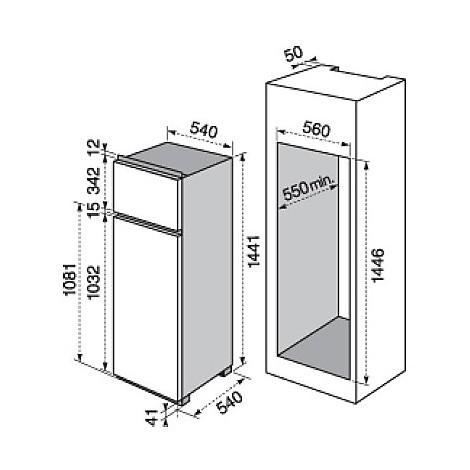 rjn-2302aow electrolux frigorifero doppiaporta classe a++ 230 litri doppiaporta
