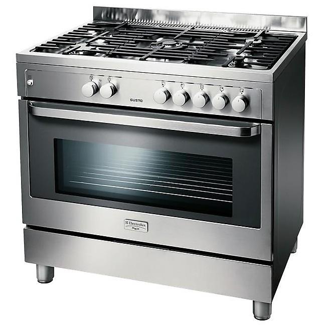 rkg-901099x rex cucina 5 fuochi a gas inox - Cucine Cucina 5 fuochi ...