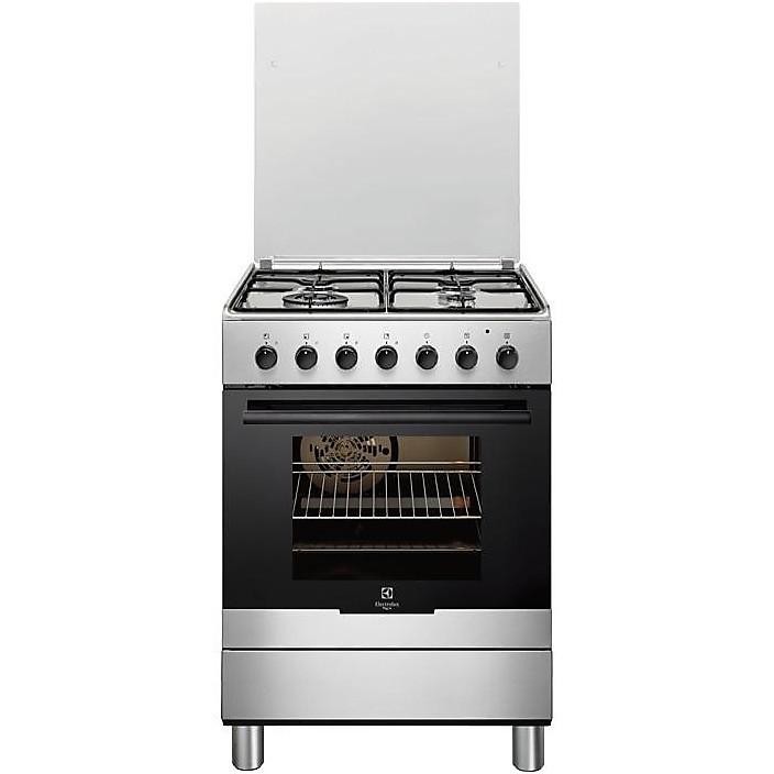rkk-61300ox rex cucina 60x60 4 fuochi a gas inox - cucine 4 fuochi ... - Rex Cucine