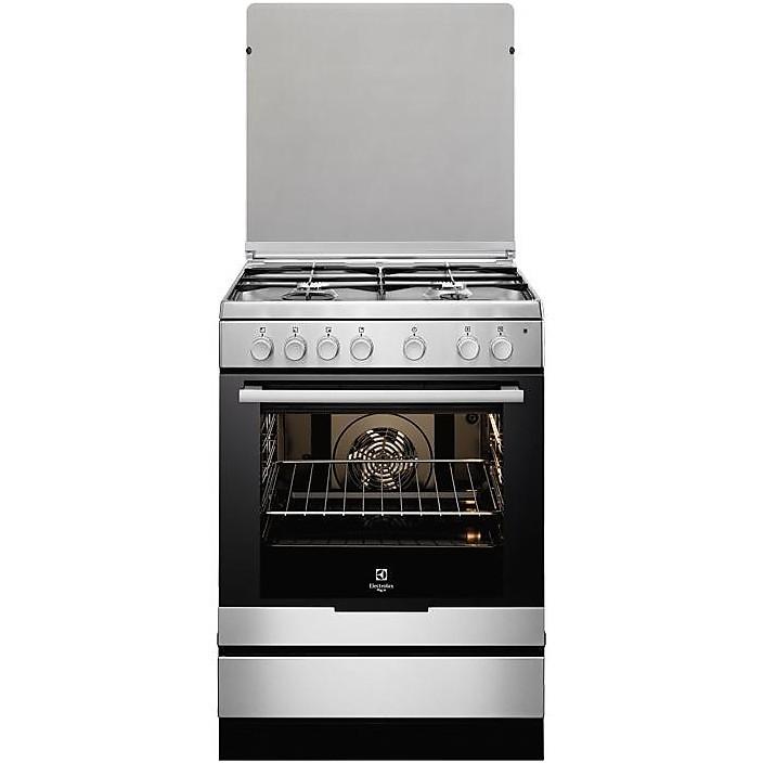 rkk-6130aox rex cucina 60x60 4 fuochi a gas inox - cucine 4 fuochi ... - Cucina 4 Fuochi Forno Elettrico