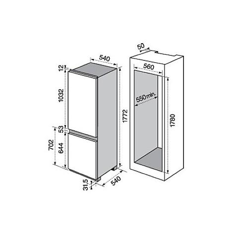 rnn-2800aow electrolux frigorifero combinato classe a+ 280 litri combinato