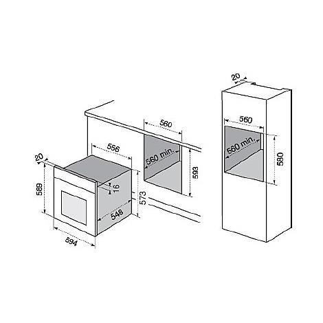rob-2100aow electrolux forno da incasso classe a bianco multicinque