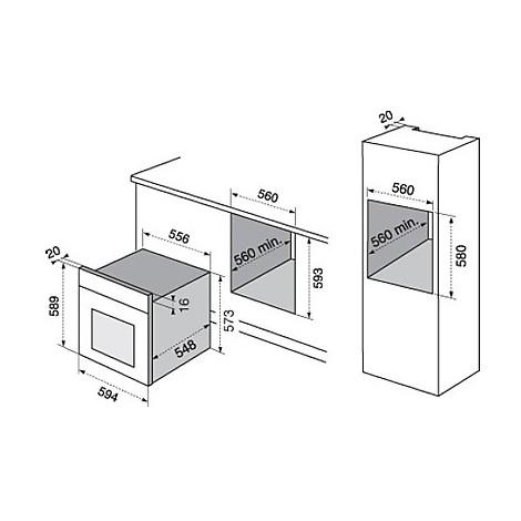rob-2220aop electrolux forno da incasso classe a rame multicinque