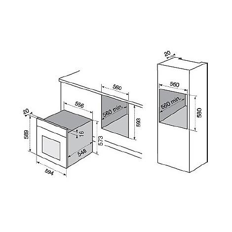 rob-6440aox electrolux forno da incasso classe a inox multinove